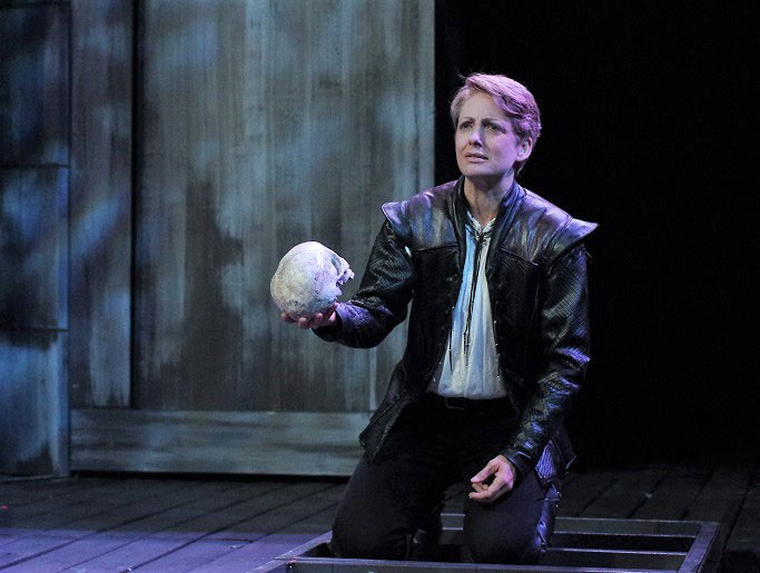 Deborah Staples as Hamlet
